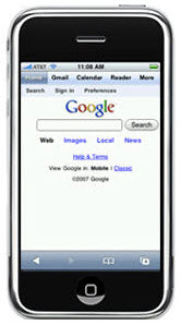 mobile search using the iPhone