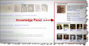 leonardo da vinci knowledge graph2 300x157 Google Knowledge Graph Impact On Search Marketing