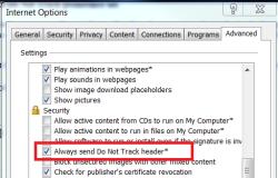 IE10 default settings