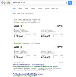 google-answer-flight-arrival