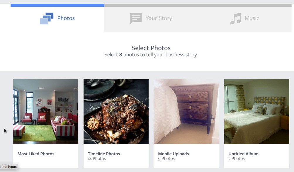 Facebook Your Business Step 1