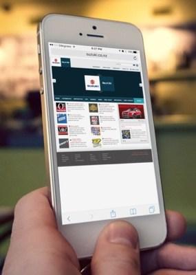 Suzuki NZ website viewed on an iphone