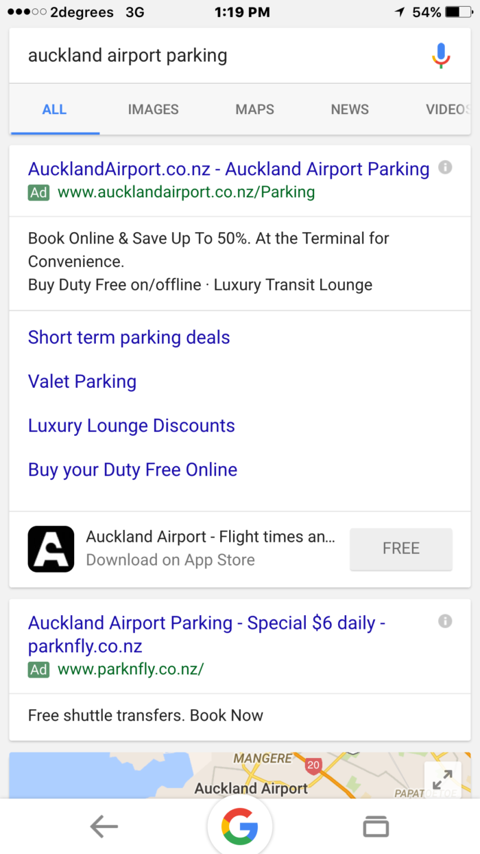 Airport Parking Ads Mobile