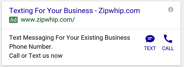 google-sms-text-ad