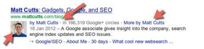 Google Authorship Markup example