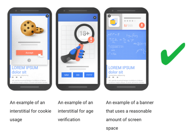 Interstitials that Google is OK with