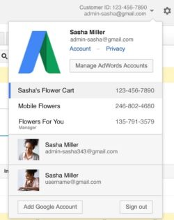 google now allows logins to multiple AdWords accounts