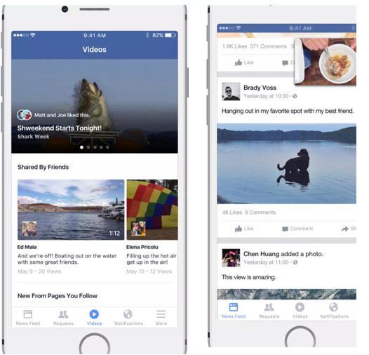 Facebook-video-feed