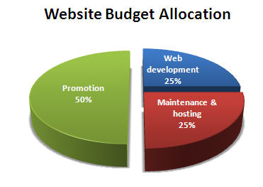 Website budget allocation