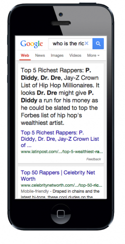 mobile search results 1