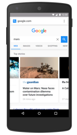 google AMP search