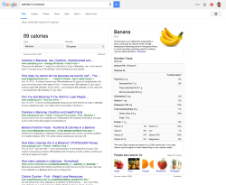 google-answer-banana-calories