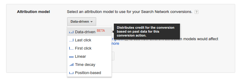 Attribution Model Dropdown - AdWords (1)