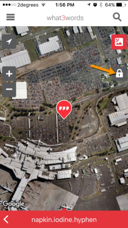 what3words car park location set