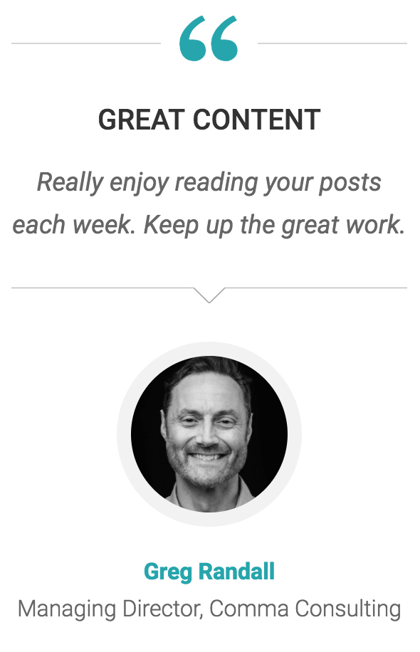 Greg Randall quote regarding SureFire web posts