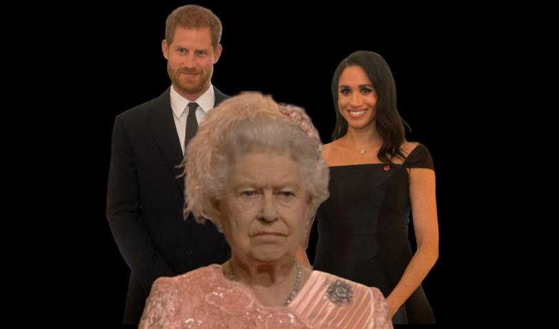 Queen Elizabeth, Harry and Meghan